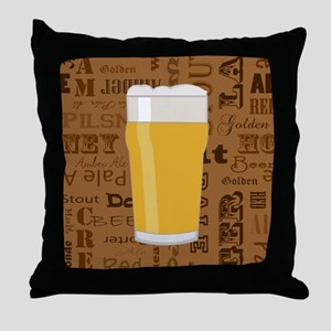 Types of Beer Series Print 2 Throw Pillow