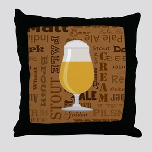 Types of Beer Series Print 4 Throw Pillow