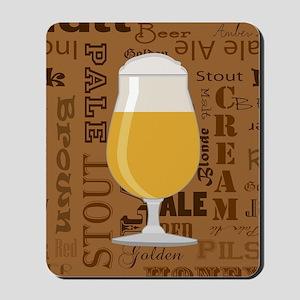 Types of Beer Series Print 4 Mousepad