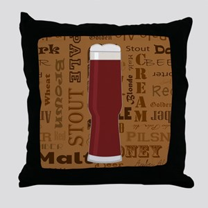 Types of Beer Series Print 5 Throw Pillow