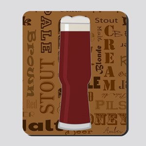 Types of Beer Series Print 5 Mousepad