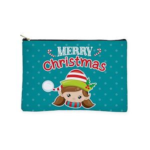 christmas elves makeup bags cafepress - Christmas Elf Makeup