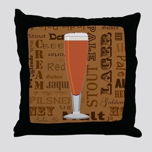 Types of Beer Series Print 6 Throw Pillow