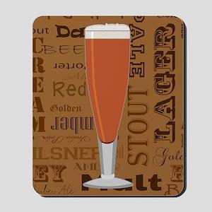 Types of Beer Series Print 6 Mousepad