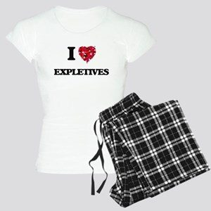 I love EXPLETIVES Women's Light Pajamas