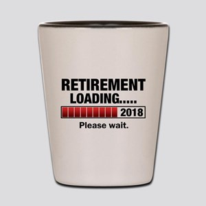 Retirement Loading 2018 Shot Glass
