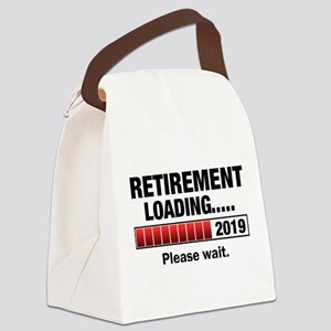 Retirement Loading 2019 Canvas Lunch Bag