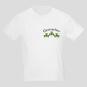 Geocacher 3 Shamrocks Kids Light T-Shirt