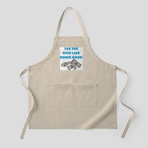 Tax-Rich-Robin-Hood-Blue-white Apron