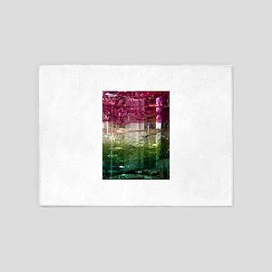 Elbaite Crystal Tri Color Design 5'x7'Area Rug