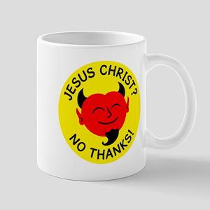 Satan - No Jesus Christ Mug