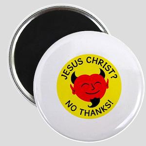 Satan - No Jesus Christ Magnet