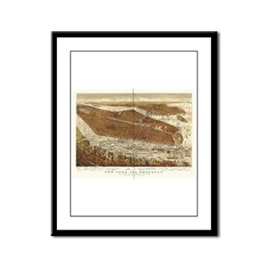 New York, Brooklyn 1875 Framed Panel Print