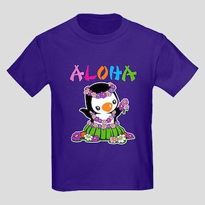 Aloha Penguin Kids Dark T-Shirt