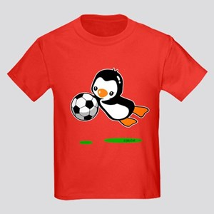 Soccer Penguin Kids Dark T-Shirt