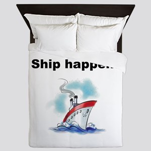 Ship happens Queen Duvet