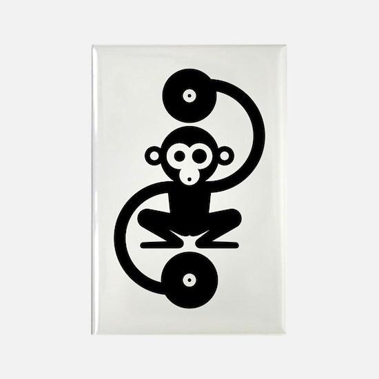 Monkey Music Rectangle Magnet