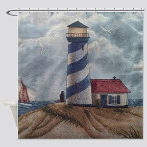 Lighthouse Scene Shower Curtain