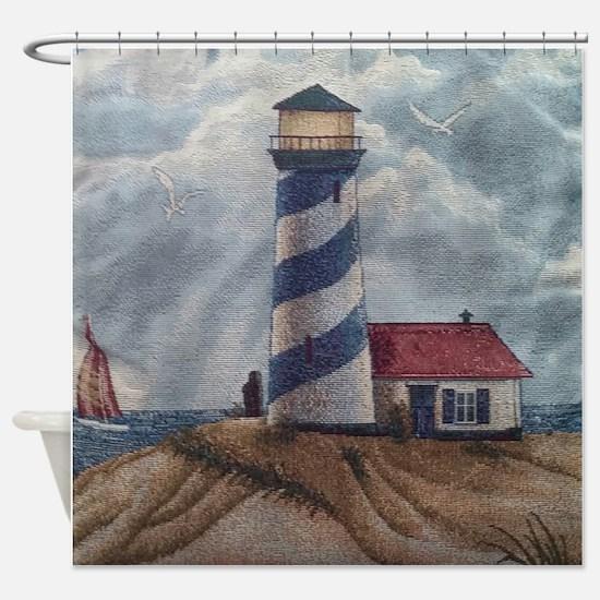Lighthouse Scene Shower Curtain