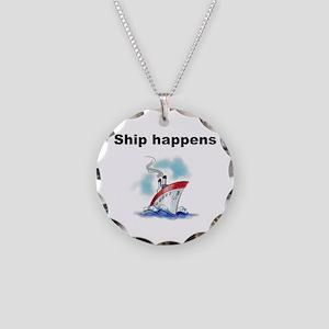 Ship happens Necklace Circle Charm