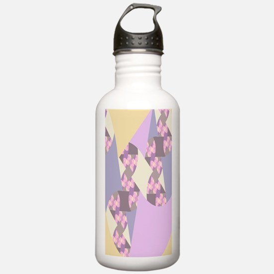 Quilt Fractal in Paste Water Bottle