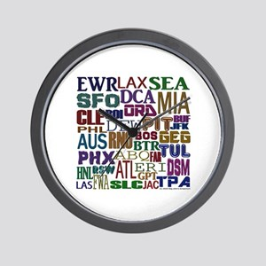 Airport Codes Wall Clock