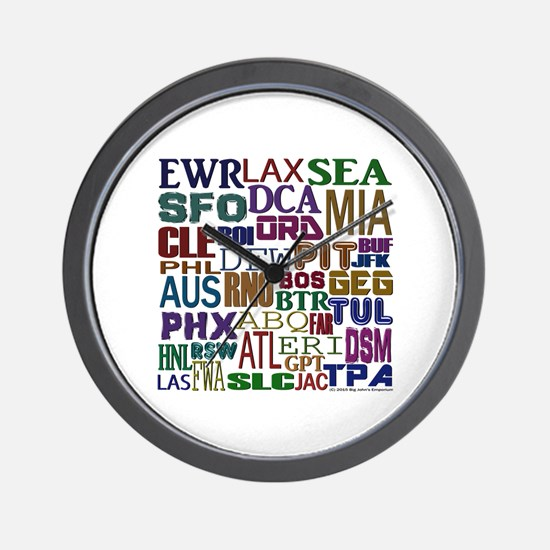 Airport Codes Wall Clock