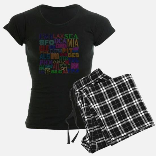 Airport Codes Pajamas