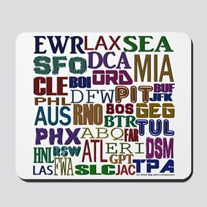Airport Codes Mousepad