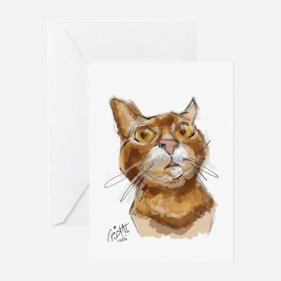 Ginger Cat DALI Greeting Cards