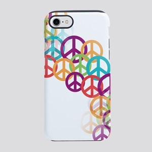 Abstract Peace Signs iPhone 8/7 Tough Case