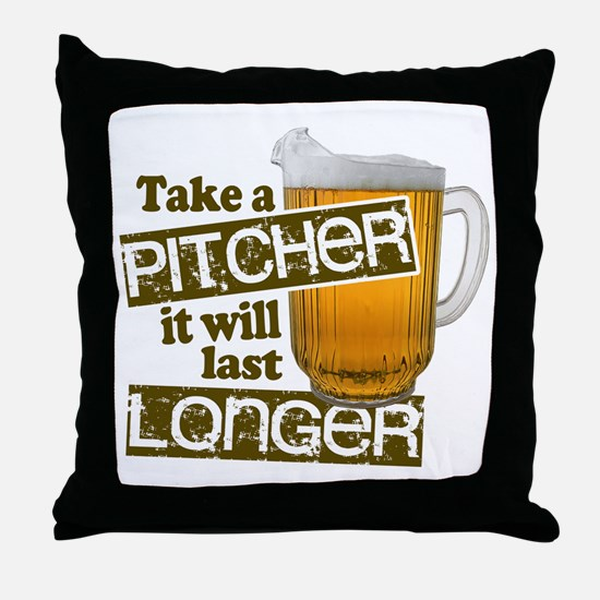 Beer Humor Take A Pitcher Throw Pillow