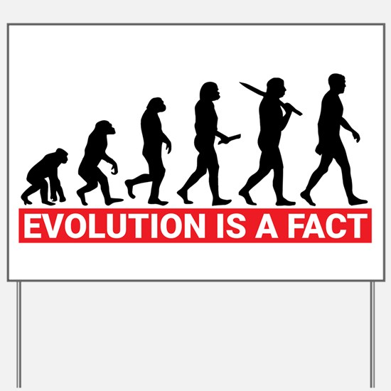 Evolution is a fact Yard Sign