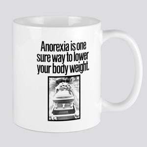 ANOREXIA LEADS TO DEATH (with image of burial) Mug