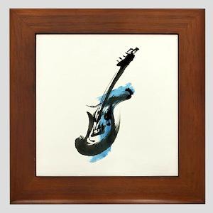 Electric guitar Framed Tile