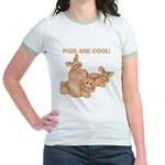 Pigs are Cool Jr. Ringer T-Shirt