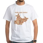 Pigs are Cool White T-Shirt