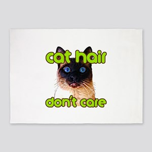 Cat Hair Dont Care 5'x7'Area Rug