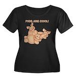 Pigs are Cool Women's Plus Size Scoop Neck Dark T-