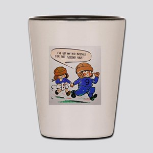 IVE GOT MY KID BROTHER FOOTBALL Shot Glass