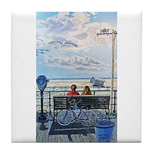 Jones Beach Boardwalk Tile Coaster