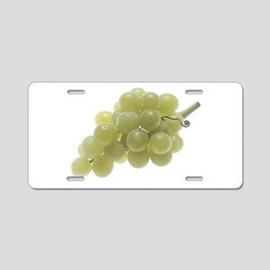 White Grapes Aluminum License Plate