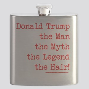 DONALD TRUMP IMPECCABLE HAIR Flask