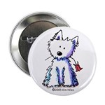 "Flower Girl Westie II 2.25"" Button (100 pack)"