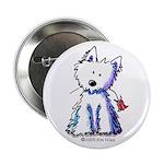 """Flower Girl Westie II 2.25"""" Button (100 pack)"""