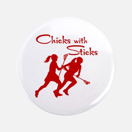 CHICKS WITH STICKS Button