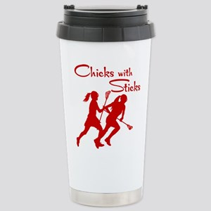 CHICKS WITH STICKS Stainless Steel Travel Mug
