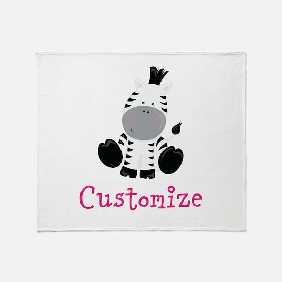 Custom Baby Zebra Throw Blanket