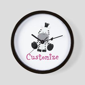 Custom Baby Zebra Wall Clock