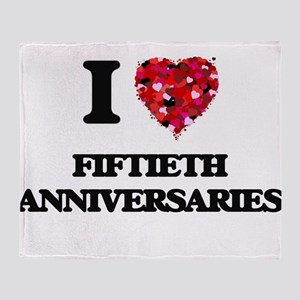 I love Fiftieth Anniversaries Throw Blanket